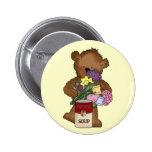 Botón de la enfermera del oso pins