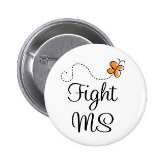 Botón de la esclerosis múltiple de la lucha pin redondo de 2 pulgadas