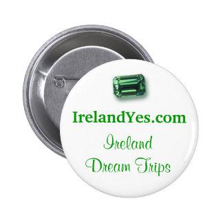 botón de la esmeralda de IrelandYes.com