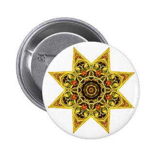 Botón de la estrella de la tapicería del cráneo
