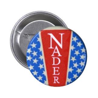 Botón de la estrella de Nader Pin Redondo De 2 Pulgadas