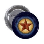 Botón de la estrella del navidad de Tejas Pin