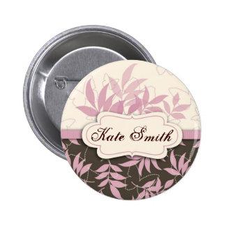 Botón de la etiqueta del nombre de la brisa de la  pin redondo de 2 pulgadas