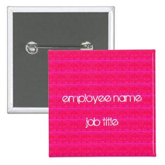 Botón de la etiqueta del nombre del empleado de la