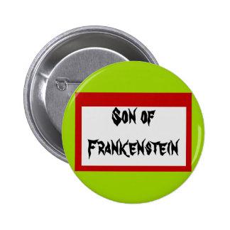 Botón de la etiqueta del nombre del monstruo de pin redondo de 2 pulgadas