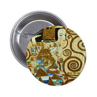 Botón de la expectativa de Gustavo Klimt Pins