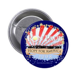 Botón de la explosión de la celebración de Ron Pau
