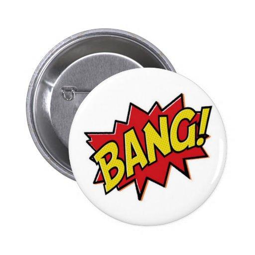 Botón de la explosión del super héroe de los cómic pin