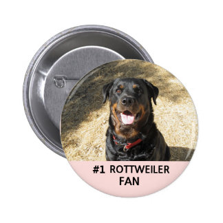 Botón de la fan de #1 Rottweiler Pin Redondo De 2 Pulgadas