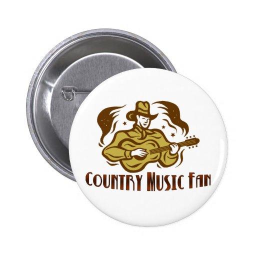 Botón de la fan de música country pins