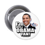 Botón de la fan de Obama Pins