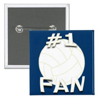 Botón de la fan del voleibol 1 pin