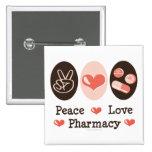 Botón de la farmacia del amor de la paz