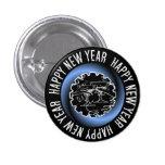 Botón de la Feliz Año Nuevo 2 Pin