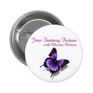 Botón de la ficción de la fantasía del Jinx Pin Redondo De 2 Pulgadas