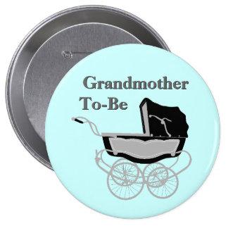 Botón de la fiesta de bienvenida al bebé de la abu pin redondo de 4 pulgadas