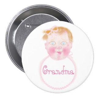 Botón de la fiesta de bienvenida al bebé de la pin redondo de 3 pulgadas