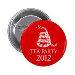 Botón de la fiesta del té 2012 pin