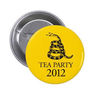 Botón de la fiesta del té 2012 pin redondo de 2 pulgadas