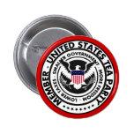 Botón de la fiesta del té de Estados Unidos Pin