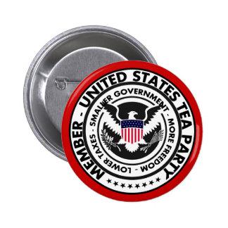 Botón de la fiesta del té de Estados Unidos