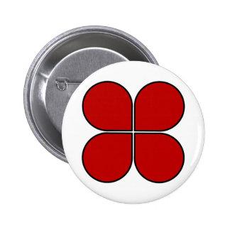 ¡Botón de la flámula de la contracción nerviosa de Pin Redondo De 2 Pulgadas