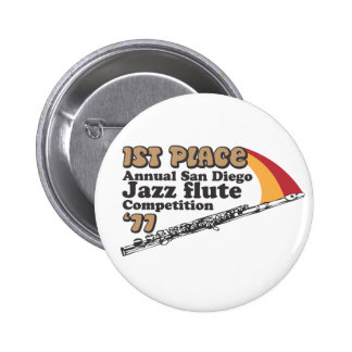 Botón de la flauta del jazz pins