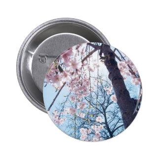 Botón de la flor de cerezo pin redondo de 2 pulgadas