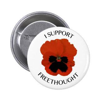 Botón de la flor de la viola de Freethought Pin Redondo De 2 Pulgadas