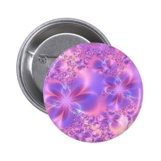 Botón de la flor del fractal pin redondo de 2 pulgadas