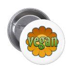 Botón de la flor del vegano pins