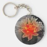 Botón de la flor llavero personalizado