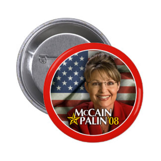 Botón de la foto de Sarah Palin Pin Redondo De 2 Pulgadas