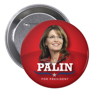 Botón de la foto de Sarah Palin Pin Redondo De 3 Pulgadas