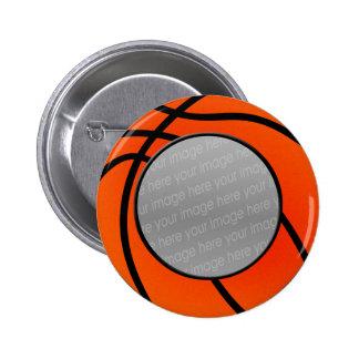 botón de la foto del baloncesto pin redondo de 2 pulgadas
