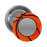 botón de la foto del baloncesto pins