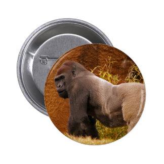 Botón de la foto del gorila del Silverback