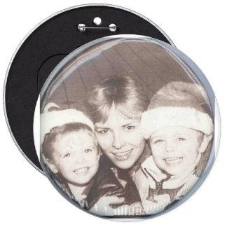 Botón de la foto pin redondo de 6 pulgadas