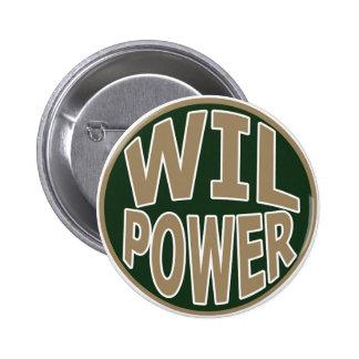 Botón de la fuerza de voluntad pin