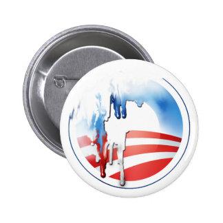 Botón de la fusión de Obama Pin