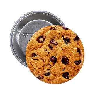 Botón de la galleta de microprocesador de chocolat pins