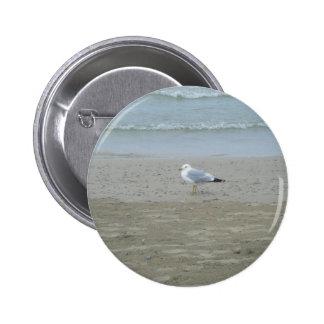 Botón de la gaviota pin redondo de 2 pulgadas