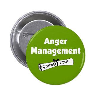 Botón de la gestión de la cólera pin