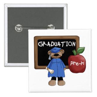 Botón de la graduación de Pre-K Pin Cuadrado