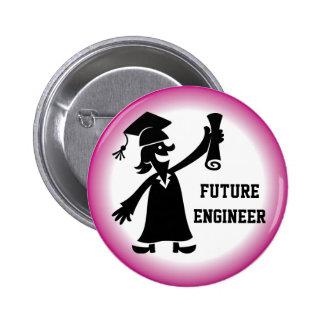 Botón de la graduación - empleo futuro pin redondo de 2 pulgadas