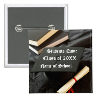 Botón de la graduación pins