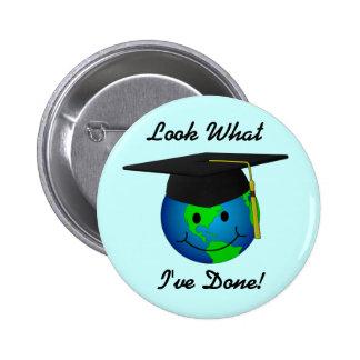 Botón de la graduación pin redondo de 2 pulgadas
