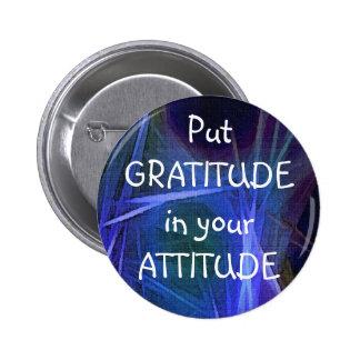 Botón de la GRATITUD del ARTE del FRACTAL Pin Redondo De 2 Pulgadas