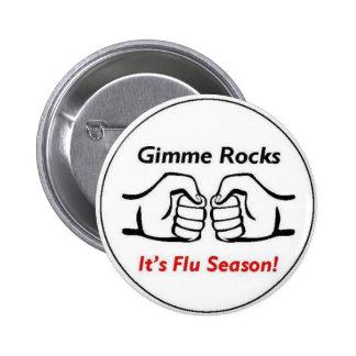 Botón de la gripe pin redondo de 2 pulgadas