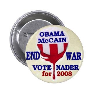 Botón de la guerra del final de Nader